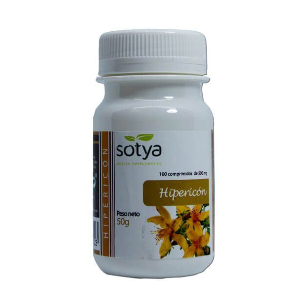 Hipéricon de 100 tabletas de la marca Sotya Health Supplements (Anti-Estrés)