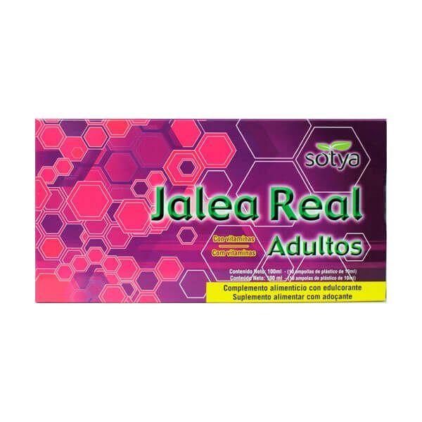 Jalea Real Adultos envase de 10 viales del fabricante Sotya Health Supplements (Revitalizantes)