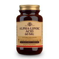 Ácido Alfa-Lipoico 60mg envase de 30 cápsulas vegetales de la marca Solgar (Acido Alfa Lipoico)