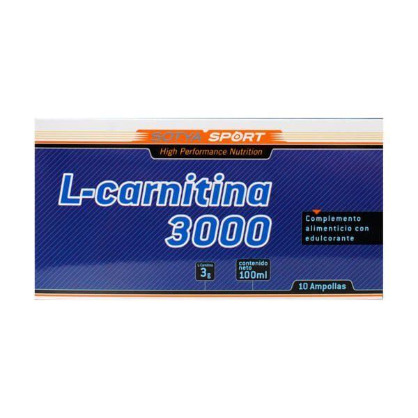 L-Carnitina 3000mg envase de 10 viales del fabricante Sotya Health Supplements