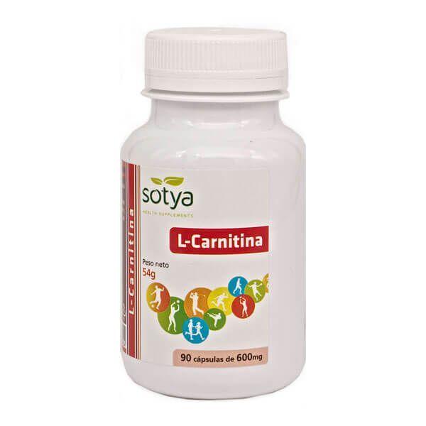 L-Carnitina 600mg de 90 cápsulas de la marca Sotya Health Supplements