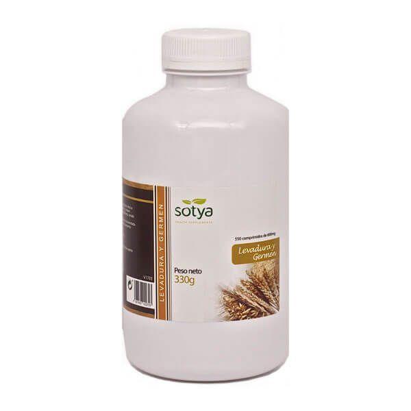 Levadura y Germen 600mg envase de 550 tabletas de Sotya Health Supplements (Anti-Envejecimiento)