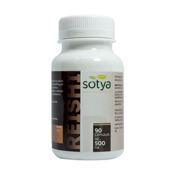 Reishi 500mg envase de 90 cápsulas de Sotya Health Supplements (Sistema Inmunológico)