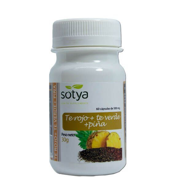 Té Rojo + Té Verde y Piña de 60 cápsulas del fabricante Sotya Health Supplements (Otros Quemadores)