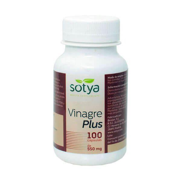 Vinagre Plus 550mg envase de 100 cápsulas del fabricante Sotya Health Supplements (Sistema Inmunológico)