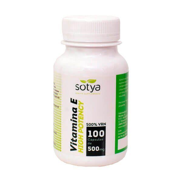 Vitamina E High Potency 500mg de 100 cápsulas de Sotya Health Supplements (Vitaminas)