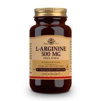 L-Arginina 500mg de 50 cápsulas vegetales de la marca Solgar