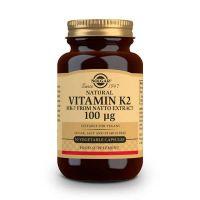 Vitamina K2 100μg con MK-7 natural envase de 50 cápsulas vegetales de Solgar (Vitaminas)