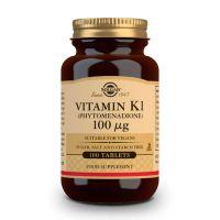 Vitamina K1 100μg envase de 100 tabletas del fabricante Solgar (Vitaminas)