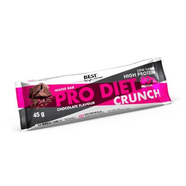 Pro Diet Crunch envase de 45g de la marca Best Protein (Barritas de Proteinas)