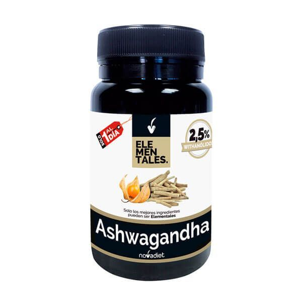 Ashwagandha envase de 30 cápsulas del fabricante Novadiet (Revitalizantes)