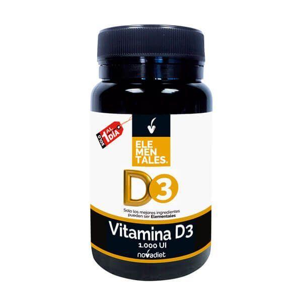Vitamina D3 1.000 UI de 120 tabletas de Novadiet