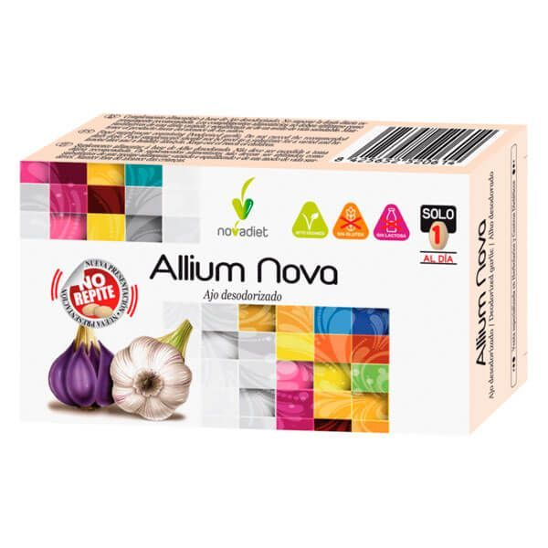 Allium Nova envase de 30 tabletas de la marca Novadiet (Sistema Inmunológico)