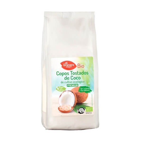 Toasted organic coconut flakes - 300g