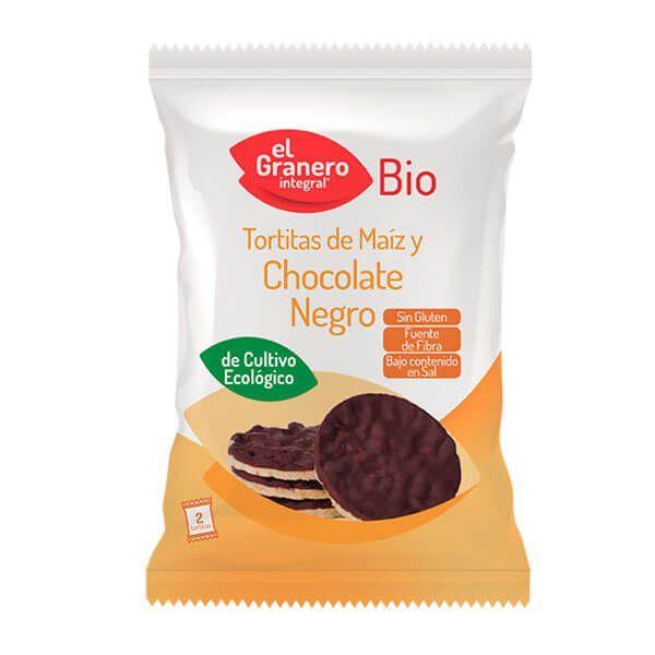 Tortitas de Maíz con Chocolate Negro Bio - 33g