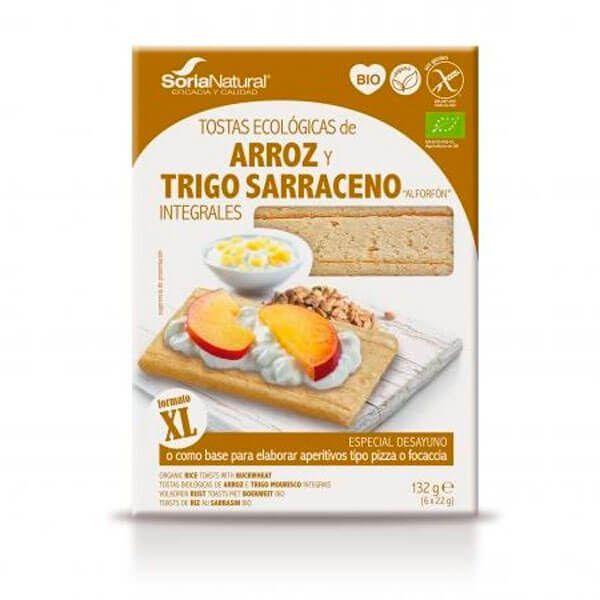 Tostadas Ecológicas de Arroz y Trigo Sarraceno Integrales - 132g