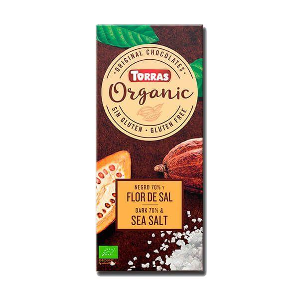 Chocolate Negro 70% Cacao con Flor de Sal Bio - 100g