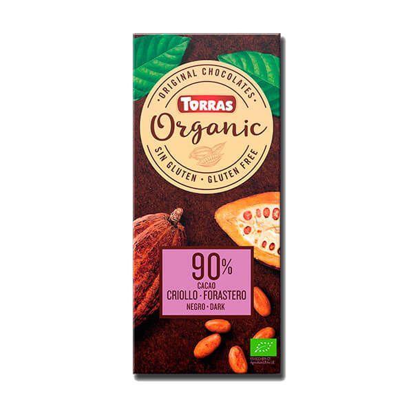 Chocolate Negro 90% Cacao Criollo Forastero Orgánico - 100g