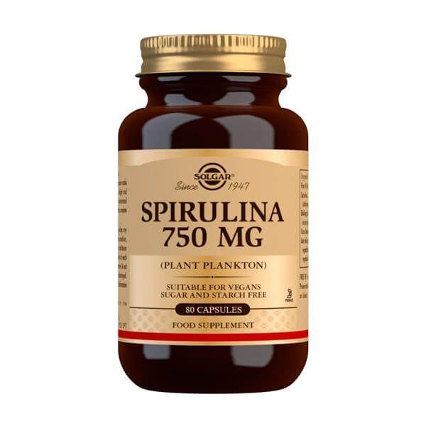 Spirulina 750mg - 80 capsules