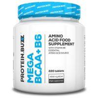 Mega BCAA + B6 envase de 220 tabletas del fabricante Protein Buzz (BCAA Ramificados)