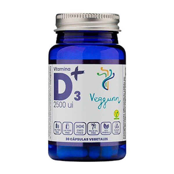 Vitamina D3 2500IU - 30 Cápsulas vegetales