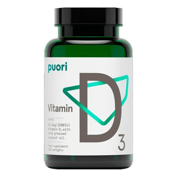 Vitamina D3 2500UI - 120 Softgels