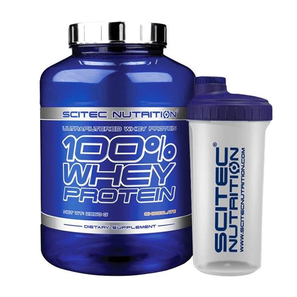 100% Whey Protein - 2350g + Vaso Mezclador de REGALO