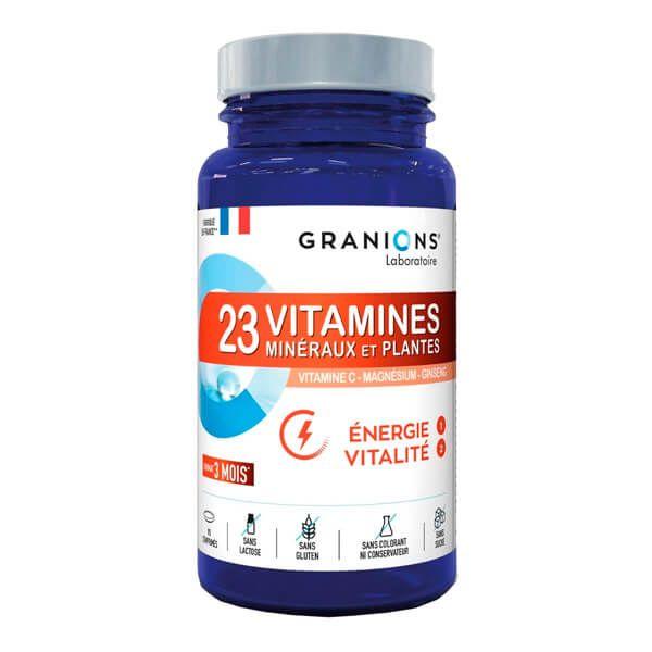 23 Vitaminas, Minerales y Plantas - 90 Tabletas