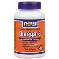 Omega-3 1000 mg Sin Colesterol de 100 softgels de Now Foods (Fuente Animal)
