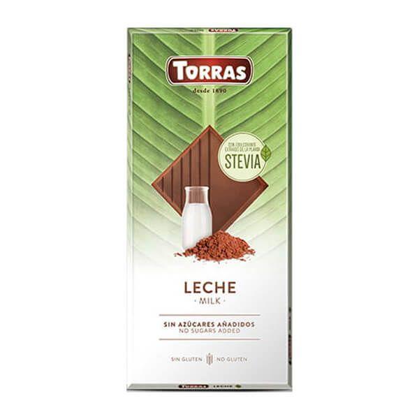 Tableta de Chocolate Stevia Leche - 100g