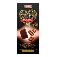 Black chocolate 72% cocoa and arabic coffee ethiopia zero - 100g