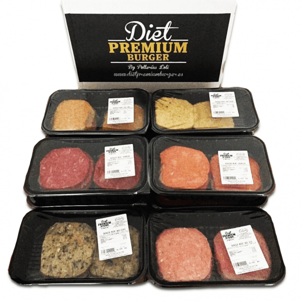 pack 10 bandejas hamburguesas 100% frescas  - Diet Premium