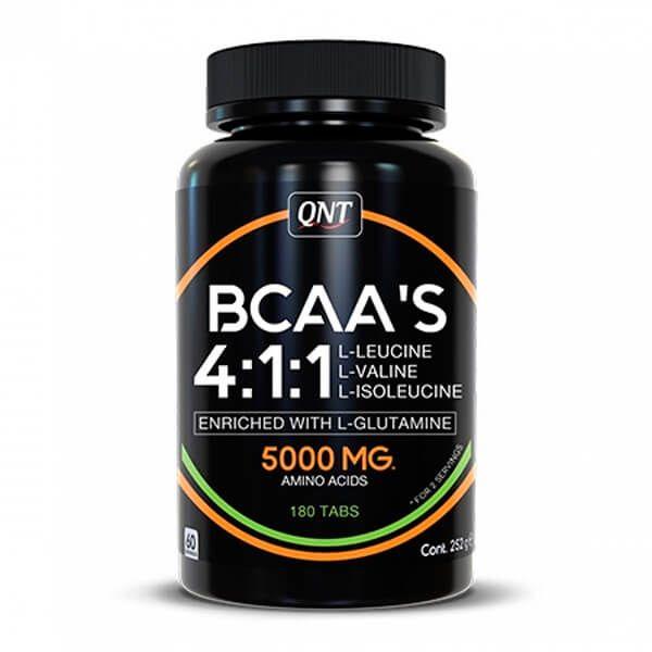 BCAA 4:1:1 + L-Glutamina - 180 Tabletas