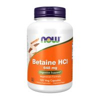 Betaína HCl 648mg - 120 Cápsulas vegetales