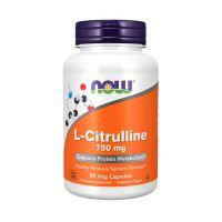 L-Citrulina 750mg - 90 Cápsulas vegetales [Now]