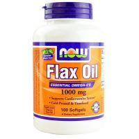 Aceite de Lino Organico 1000mg de 100 softgel del fabricante Now Foods (Grasas Beneficiosas para el Organismo)