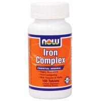 NOW Iron Complex -100 Comprimidos