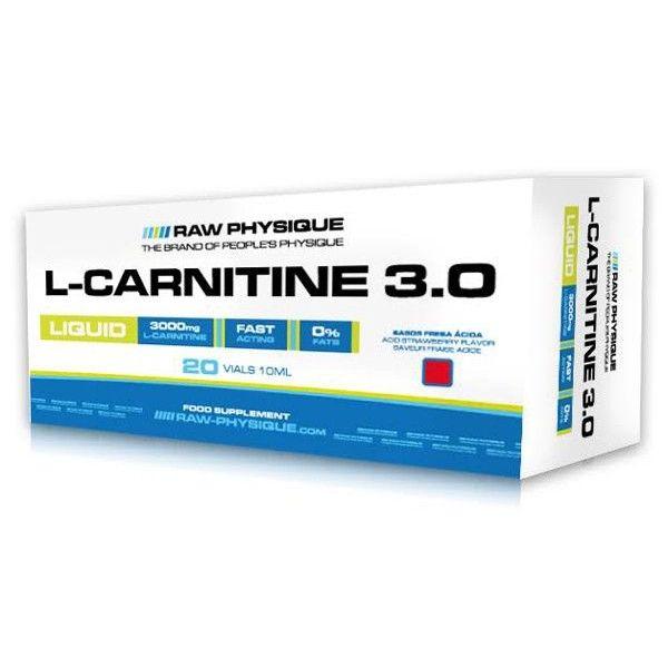 L-Carnitina 3.0 envase de 20 viales del fabricante Raw Physique