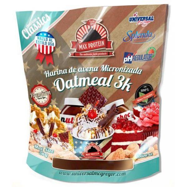 Harina de Avena American Classic de 3kg del fabricante Max Protein (Harina de Avena Dulce)