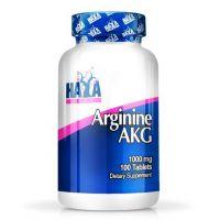 Arginina AKG 1000mg de 100 tabletas de la marca Haya Labs (Complejos H Crecimiento)