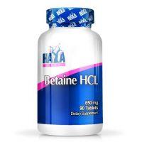 Betaína HCL 650mg - 90 tabletas