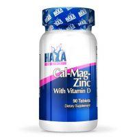 Calcio Magnesio y Zinc con Vitamina D envase de 90 tabletas de Haya Labs (Minerales)