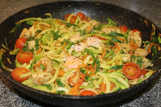 Noodles de calabacín