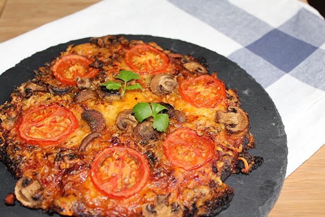 Pizza proteica de pollo