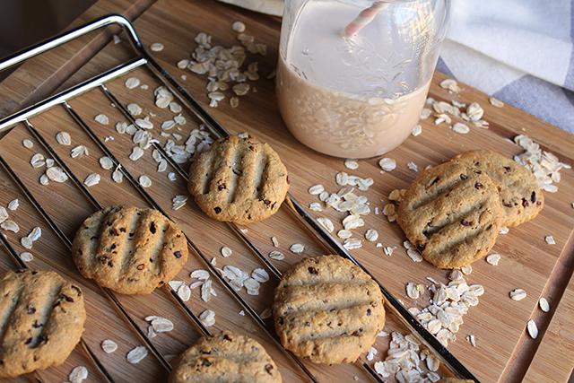 Galletas de avena y cacao crujientes