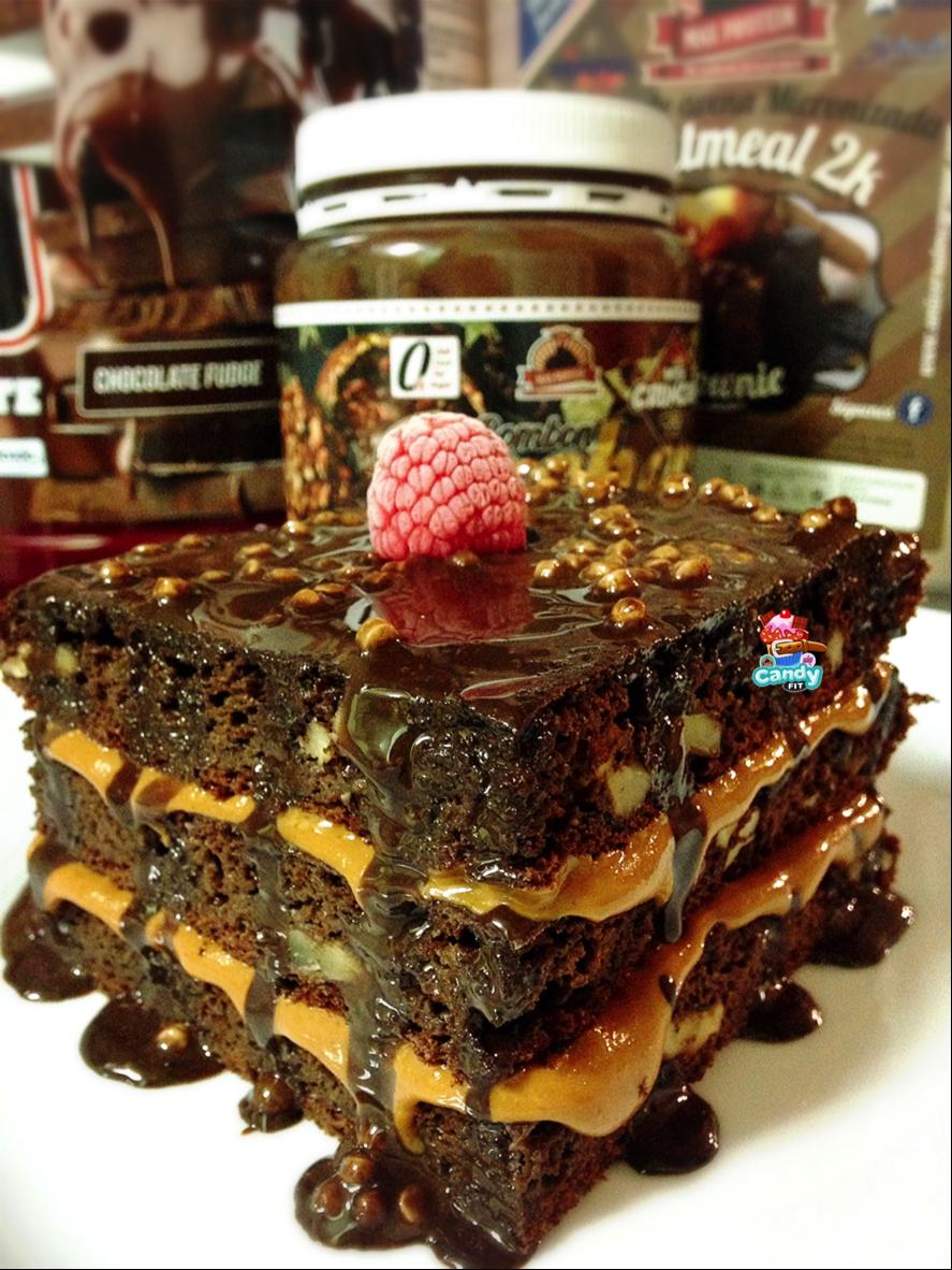 recetas fitness, desayuno, Brownie, chocolate, fit