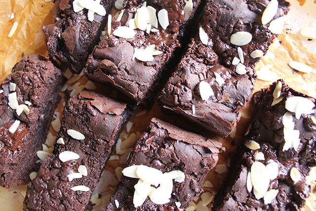 Banana cake saludable doble chocolate