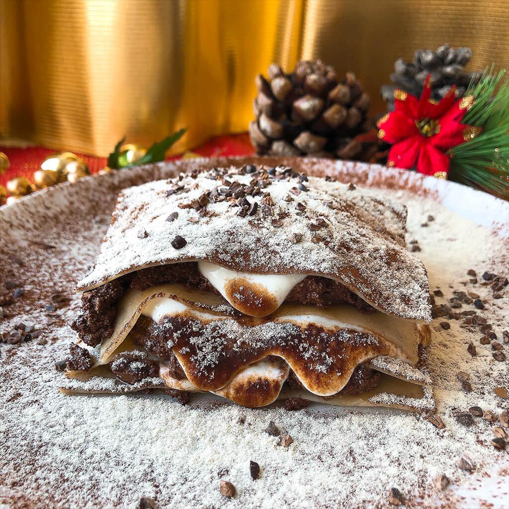 Lasaña de chocolate trufado