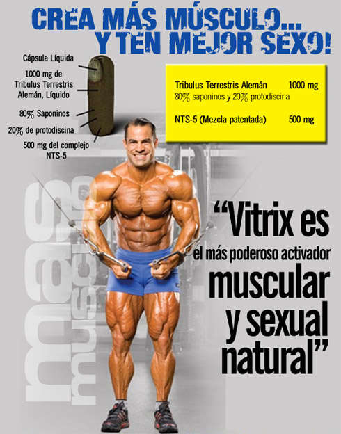 Vitrix es el más poderoso activador muscular y sexual natural